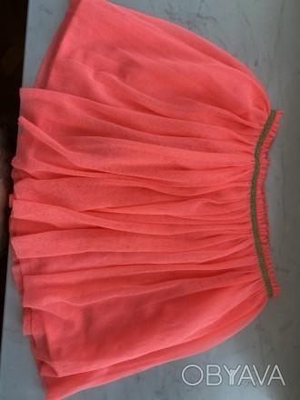 Юбка розовая, Zara Girls, Сетка мягкая, очень приятная на ощупь, рост 152.. Одесса, Одесская область. фото 1