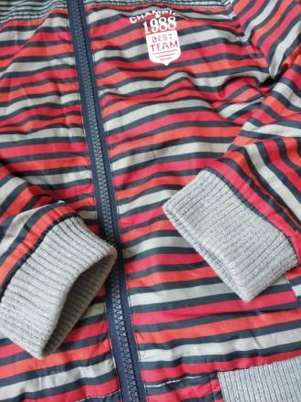 Куртка ветровка Gee Jay на мальчика в полоску в хорошем состоянии Размер 4-5 л. Кривий Ріг, Днепропетровская область. фото 4