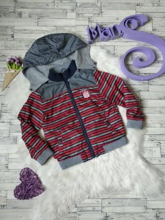 Куртка ветровка Gee Jay на мальчика в полоску в хорошем состоянии Размер 4-5 л. Кривий Ріг, Днепропетровская область. фото 2