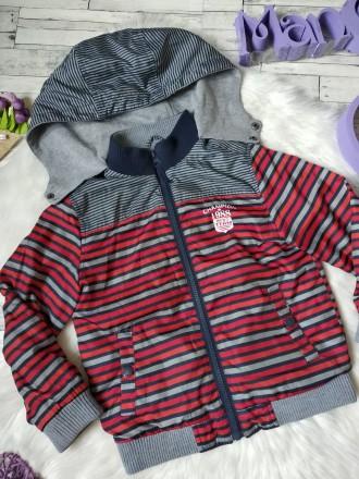 Куртка ветровка Gee Jay на мальчика в полоску в хорошем состоянии Размер 4-5 л. Кривий Ріг, Днепропетровская область. фото 3