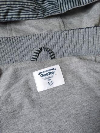 Куртка ветровка Gee Jay на мальчика в полоску в хорошем состоянии Размер 4-5 л. Кривий Ріг, Днепропетровская область. фото 6