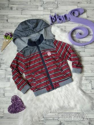 Куртка ветровка Gee Jay на мальчика в полоску в хорошем состоянии Размер 4-5 л. Кривий Ріг, Днепропетровская область. фото 1