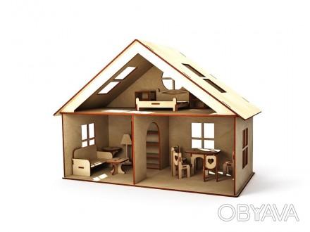-материал - фанера 4 мм; -2 этажа -3 комнаты -разная мебель -размеры: 300 х . Чернигов, Черниговская область. фото 1