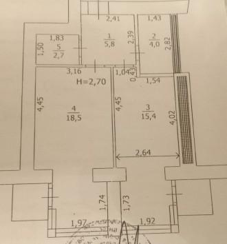 Продам шикарную квартиру с большой кухней, комнатой, гардеробной, двумя балконам. Ирпень, Ирпень, Киевская область. фото 13