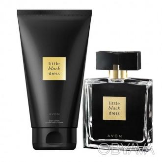 Женский подарочный набор Little Black Dress LBD Avon духи 50мл лосьон для рук 50