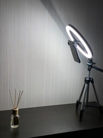 Кольцевая LED лампа 26 см +ПОДАРОК штатив на выбор (макс высота 210 см, макс выс. Киев, Киевская область. фото 4
