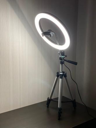 Кольцевая LED лампа 26 см +ПОДАРОК штатив на выбор (макс высота 210 см, макс выс. Киев, Киевская область. фото 5