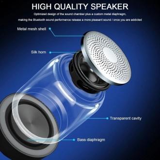 Мини-динамик Bluetooth - C7 имеет светодиодную подсветку которая срабатывает в т. Бровары, Киевская область. фото 4