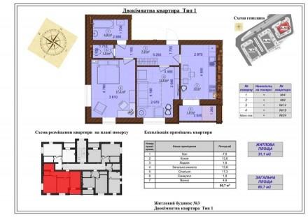 Вашему вниманию предлагается новая 2-х комнатная квартира в клубном доме в город. Green Yard ЖК, Ирпень, Киевская область. фото 11