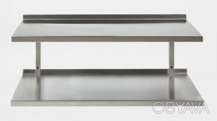 Полка два уровня  производственная нержавеющая сталь (AISI 201)