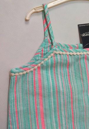 Красивый мятный комплект в полосочку от английского бренда George для девочки в . Измаил, Одесская область. фото 3