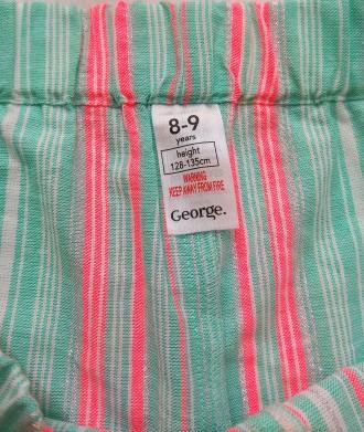 Красивый мятный комплект в полосочку от английского бренда George для девочки в . Измаил, Одесская область. фото 5