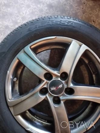 Продам шины r 15 185 65 Lassa impetus revo 2 шт шины прошли 350 км. Состояние но. Донецк, Донецкая область. фото 1