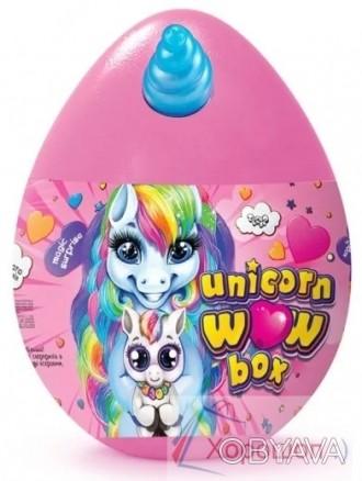 Яйцо сюрприз Единорог 35 см., набор для творчества Unicorn wow box - Danko Toys