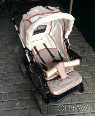 Продам детскую коляску, есть большая багажная корзина. Проходимость очень хороша. Кривий Ріг, Дніпропетровська область. фото 1
