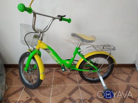 Велосипед детский 16 дюймов (размер колеса). Новый.