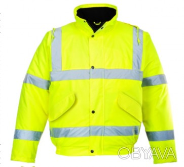 Куртка сигнальная утепленная S463, желтая, красная