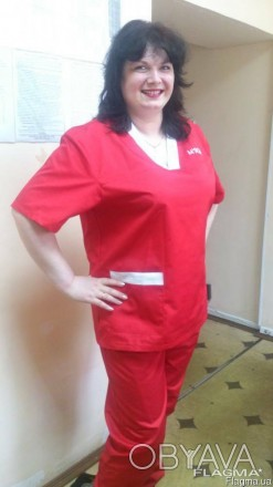 Костюм рабочий для медиков. Летний костюм для скорой помощи, сорочка и брюки для
