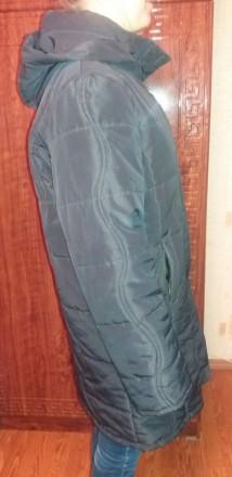 Женское пальто теплое демисезонное на подкладке б.у. черное размер 52-54 (без де. Чернигов, Черниговская область. фото 3