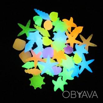 Светящиеся камни 3D для аквариумов и дизайна, в форме ракушек