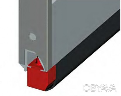 Упор нижний LS1016 для секционных ворот