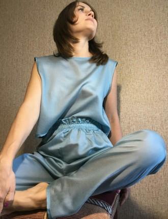 Пижама хлопковая женская (футболка + штаны на эластичной резинке)  Состав: 10. Николаев, Николаевская область. фото 2