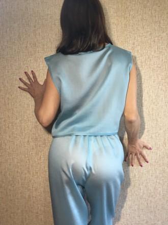 Пижама хлопковая женская (футболка + штаны на эластичной резинке)  Состав: 10. Николаев, Николаевская область. фото 4