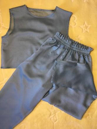 Пижама хлопковая женская (футболка + штаны на эластичной резинке)  Состав: 10. Николаев, Николаевская область. фото 5