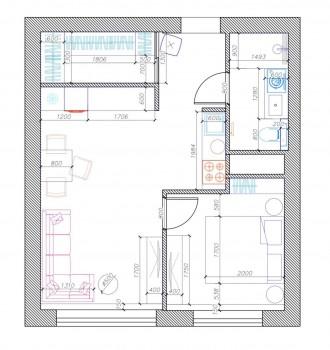 Предлагается к продаже однокомнатная просторная квартира правильной планировки в. Киевский, Одесса, Одесская область. фото 8