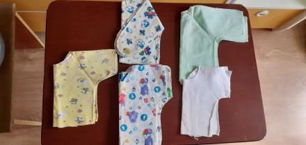 Продам распашонки на новорожденных, все новые, не пригодились. Есть ситцевые, ес. Мариуполь, Донецкая область. фото 2