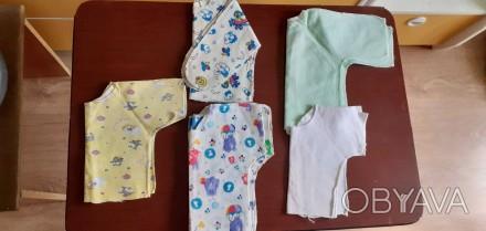 Продам распашонки на новорожденных, все новые, не пригодились. Есть ситцевые, ес. Мариуполь, Донецкая область. фото 1