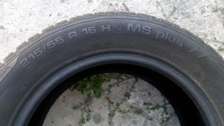 Продам комплект (4 шт.) зимних шин Uniroyal MS Plus 77 215/55 R16 93H, производс. Киев, Киевская область. фото 3