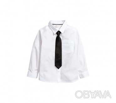 HM Рубашка для мальчика с галстуком в комплекте  3-4 года (104 см)