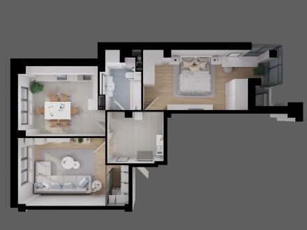 Продам простору двосторонню 2-во к.квартиру з неймовірним краєвидом на річку Сти. Луцк, Волынская область. фото 5