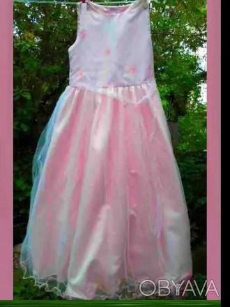 Платье нарядное девочке 5 - 6 лет розовый цвет
