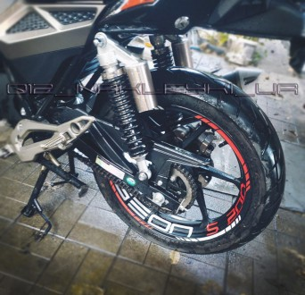 Наклейки на диски Suzuki Yamaha Honda Kawasaki Dukati Dominar Lifan Enduro Свето. Одесса, Одесская область. фото 3