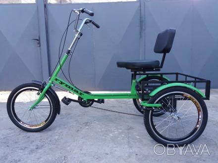Трехколесный грузовой велосипед для взрослых. Для всей семьи. Трайк \ трицикл