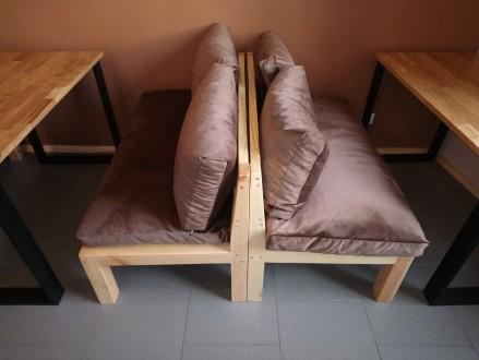Продается лофтовая мебель   В наличии есть:  - 6 двуместных диванов. Размер . Киев, Киевская область. фото 2