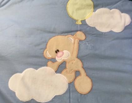 Новый комплект постельного в детскую кроватку.  Комплектация и размеры на фото №. Черкаси, Черкасская область. фото 3