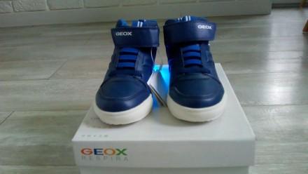 Новые, демисезонные ботиночки Geox. Очень классные! Верх- полиуретан/текстиль, п. Вышгород, Киевская область. фото 6