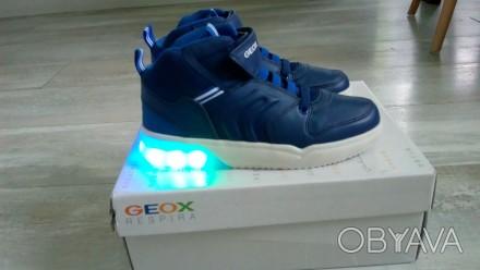 Новые, демисезонные ботиночки Geox. Очень классные! Верх- полиуретан/текстиль, п. Вышгород, Киевская область. фото 1