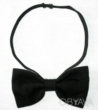 Детский галстук-бабочка для мальчика-школьника. Материал - 100% шерсть. Цвет ч. Киев, Киевская область. фото 1