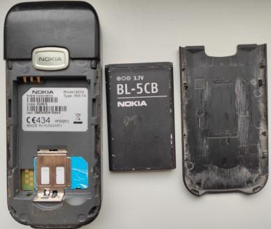 Nokia 6030 б/ушный кнопочный телефон черного цвета в хорошем состоянии. Работает. Херсон, Херсонская область. фото 4