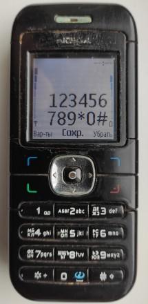 Nokia 6030 б/ушный кнопочный телефон черного цвета в хорошем состоянии. Работает. Херсон, Херсонская область. фото 8