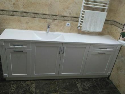 Ми виготовляємо стільниці і умивальники в ванну кімнату зі штучного каменю під з. Ровно, Ровненская область. фото 7