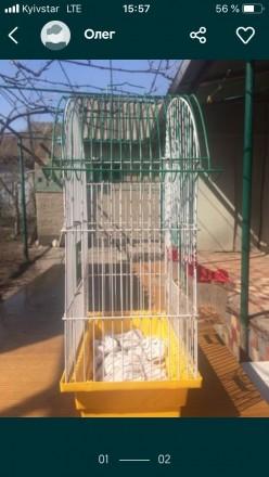 Продам клетку для птиц высота 45 ширина25 жёрдочки отсутствуют прошу писать Вайб. Одесса, Одесская область. фото 2