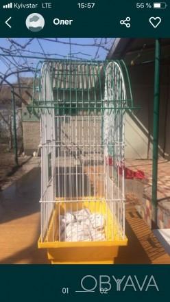 Продам клетку для птиц высота 45 ширина25 жёрдочки отсутствуют прошу писать Вайб. Одесса, Одесская область. фото 1