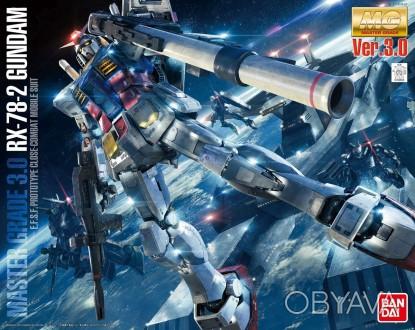 Сборная модель 1/100 RX-78-2 Gundam Ver. 3.0 Bandai Mobile Suit Gundam Anime