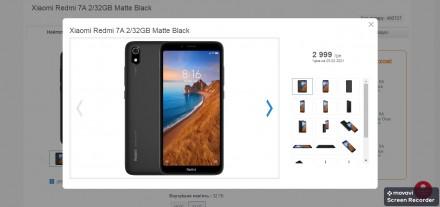 Xiaomi Redmi 7A 2Gb/32Gb Matte Black Global Edition Оригинальная коробка с доку. Лохвица, Полтавская область. фото 3