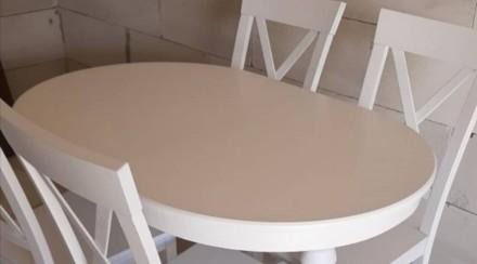 Кухонний набір: колір слонова кость (айворі) або білий Стіл 120х80 +40вставка ц. Одесса, Одесская область. фото 3